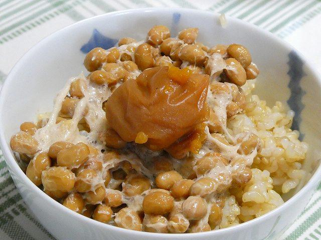 納豆と梅干しご飯