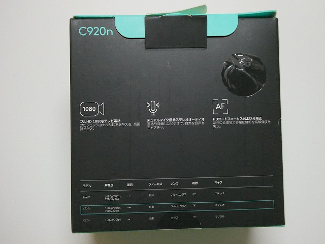 webカメラの箱の裏